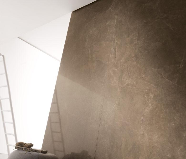 Kerlite gres basso spessore effetto marmo marrone