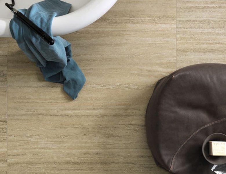 Gres sottile 5,5mm  effetto marmo Travertino - Slimtech