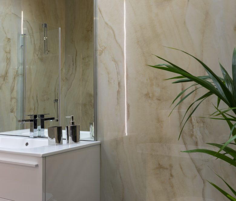 SO-TILES MARBLE EXTRA ONICE ORO 80x160 - GRES SOTTILE EFFETTO MARMO ONICE LUCIDO