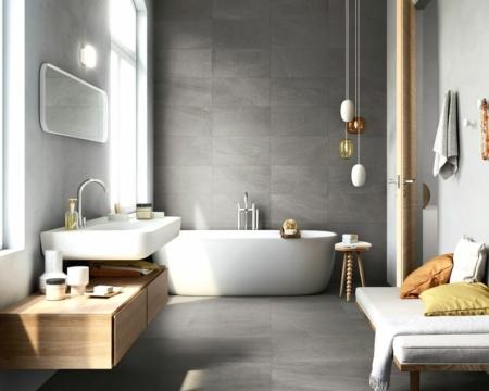 Bagno moderno grigio: idee e combinazioni